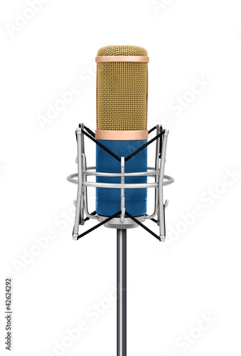 Professional Vintage microphone isolated