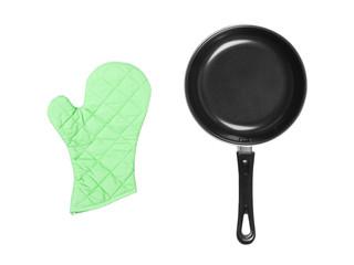 kitchen glove with pan