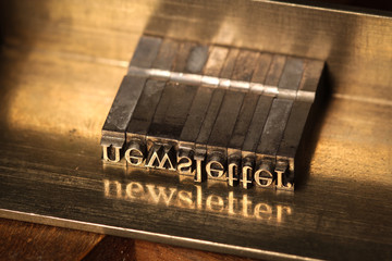 Newsletter, hot type