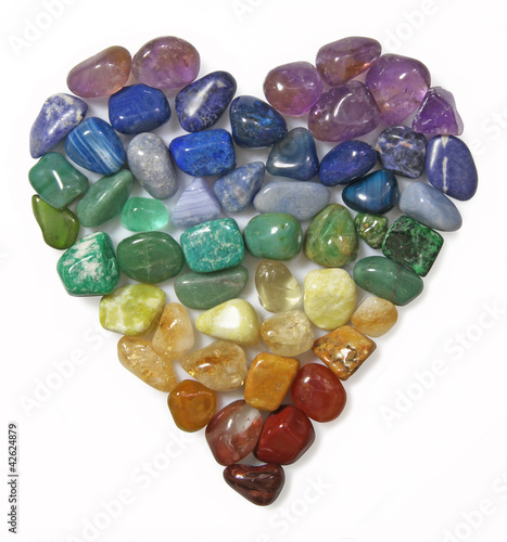 Canvas Edelsteen Chakra Gemstone Heart