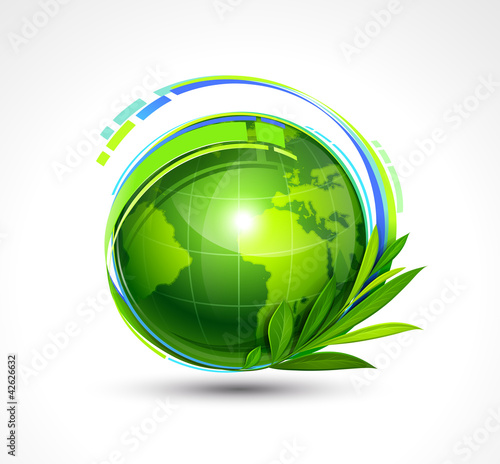 Green Planet. Vector illustration