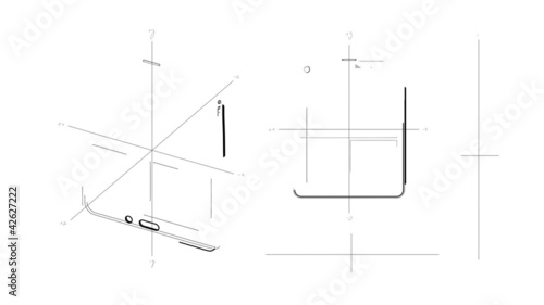 Tablet PC Technical Drawing