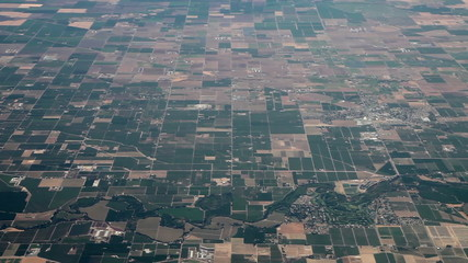 Flying above very flat land