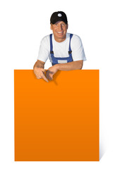 Workman with display