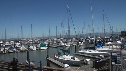 Pier 39 port on San Francisco Bay