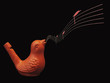 Clay whistle bird