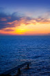 Balearic Formentera island sunset in Mediterranean