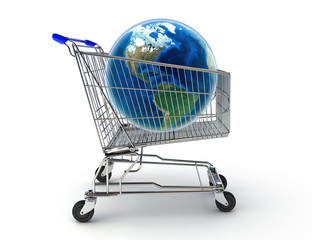 Shopping around the world concept