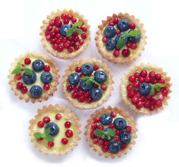 Cupcake with fruit