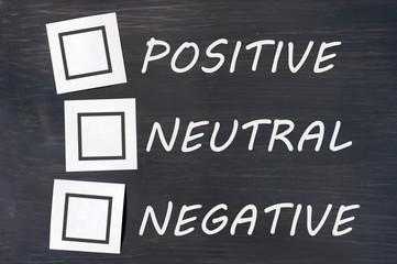 Feedback positive neutral negative on a chalkboard