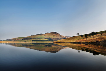 40 - reflection of dovestone on a clear sunny day
