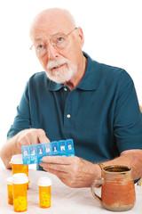 Senior Man Forgot to Take Medicine