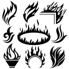 flame tattoo set