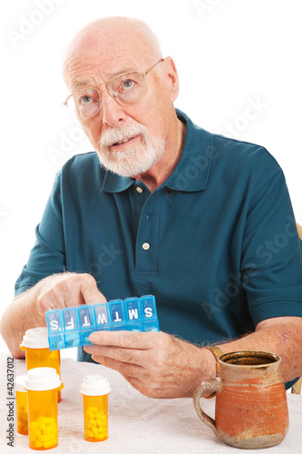 Senior Man Forgot to Take Medicine