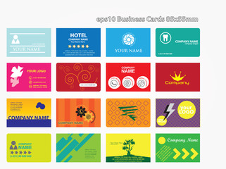 16 business cards 85x55mm