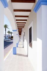 Formentera island La Savina narrow arcade