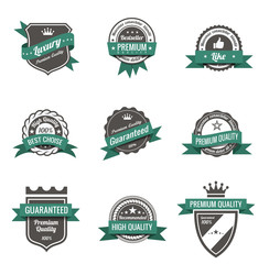 Vintage Labels set. Logo retro. Trendy design. High quality.