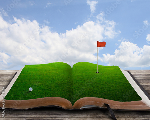 Golf course on book