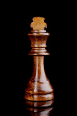 Chess piece isolated on black