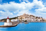 Fototapety Eivissa ibiza town from red lighthouse red beacon