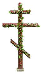 Church cross during the holiday Trinity