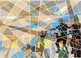 Gymnasium mosaic poster