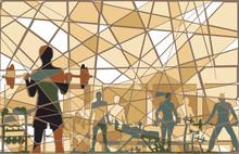 Gymnase mosaïque