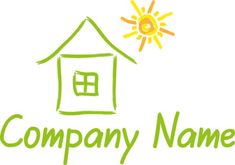 Haus, Sonne, Logo