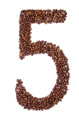 number 5 from coffee beans.