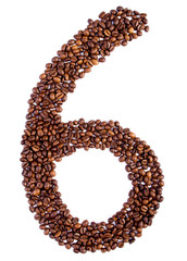 number 6 from coffee beans.