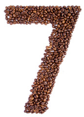 number 7 from coffee beans.