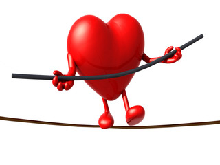 heart acrobat who walks on a wire