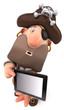 Pirate et tablette