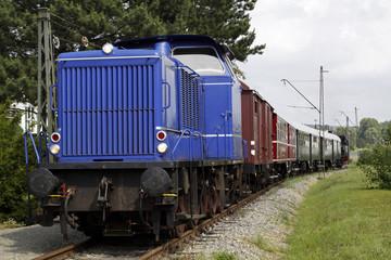 Alte Diesellokomotive der Landeseisenbahn Lippe