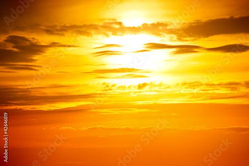 Leinwandbild Motiv sunset photo