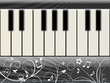 Music background with a piano keyboard