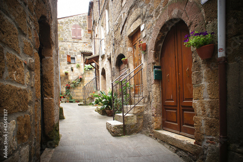 typical italian narrow street