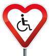 Herz Schild Behinderte