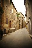 Fototapety typical italian narrow street