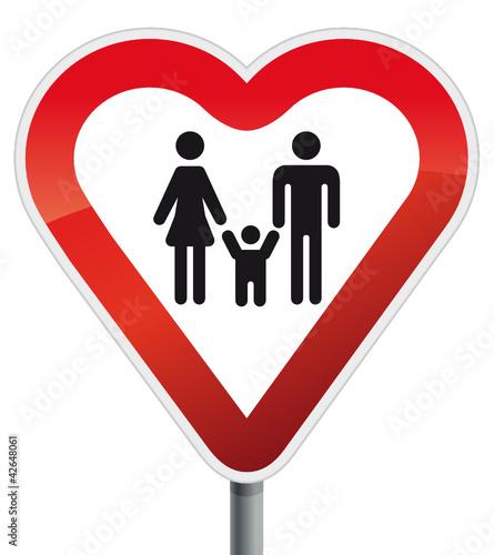 Herz Schild Familie