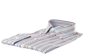 man's shirt with stripes