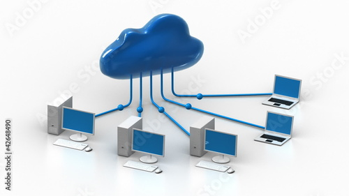 Data transfer cloud computers