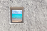 Balearic islands idyllic turquoise beach from house window