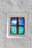 Balearic islands idyllic turquoise beach from house window