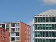 Gebäude am Westhafen in Frankfurt