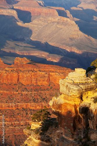 Poster Oranje eclat Grand canyon