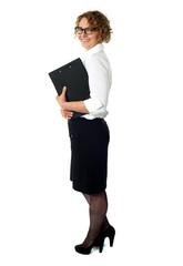 Full length portrait of businesswoman