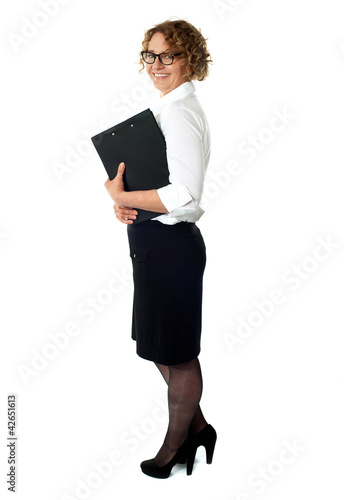 Full length portrait of businesswoman
