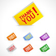 Thank you - vector grateful cards for website.