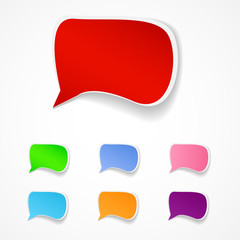 Vector illustration of speech sticky labels.